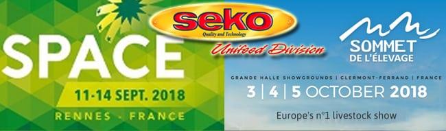 Space – Rennes – 11-14 Settembre Sommet de l'Élevage – Clermont Ferrand 03-05 Ottobre