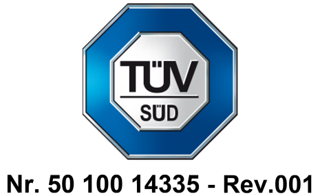 Certificato Tuv Seko Industries