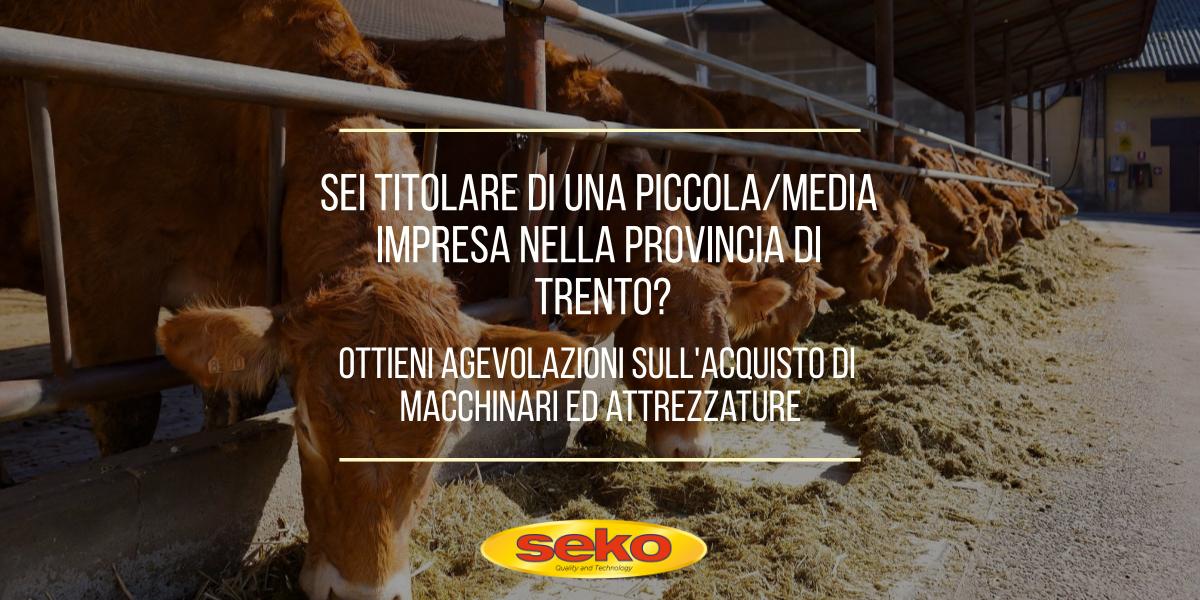 agevolazioni per le aziende della Provincia Autonoma di Trento
